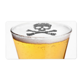 Beer Head Bubbles Personalized Shipping Labels
