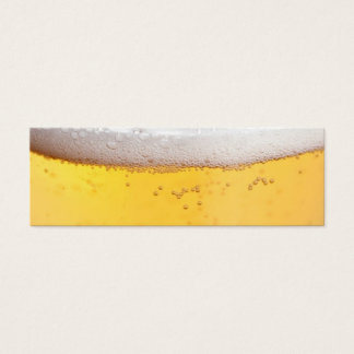 Beer Head Bubbles Mini Business Card