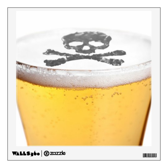 Beer Head Bubbles Wall Sticker