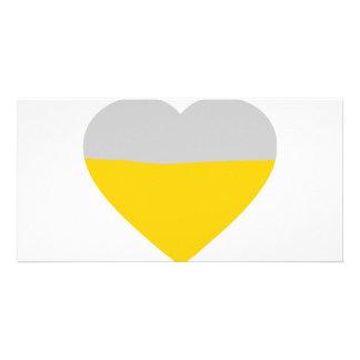 beer heart love card
