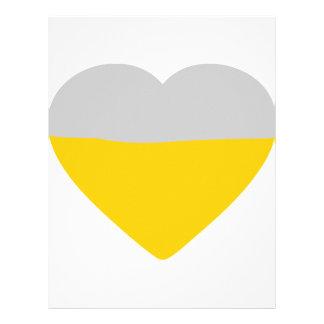 beer heart love customized letterhead
