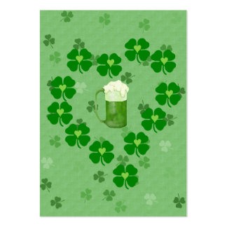 Beer, Hearts, and Shamrocks Large Business Card
