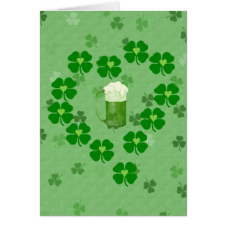 Beer, Hearts, and Shamrocks Stationery Note Card