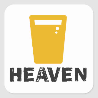 Beer Heaven Square Sticker