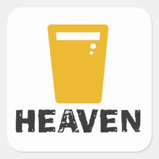 Beer Heaven Square Sticker