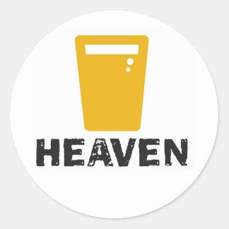 Beer Heaven Round Sticker