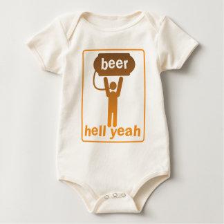 beer hell yeah! baby bodysuit