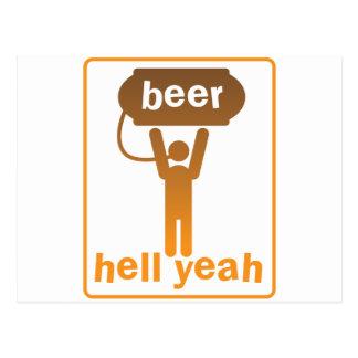 beer hell yeah! postcard