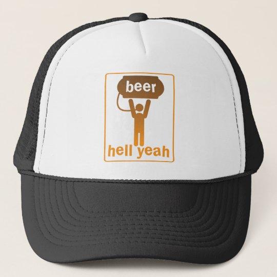 beer hell yeah! trucker hat