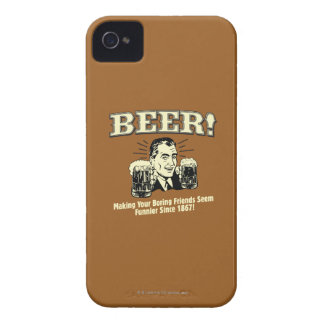 Beer: Helping Friends Seem Funnier iPhone 4 Cover