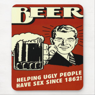 Beer helping people,...Funny Mousepad
