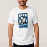 Beer helping white guys dance tee shirt