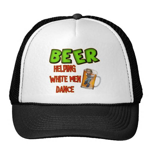 Beer Helping White Men Dance T-shirts Gifts Mesh Hat