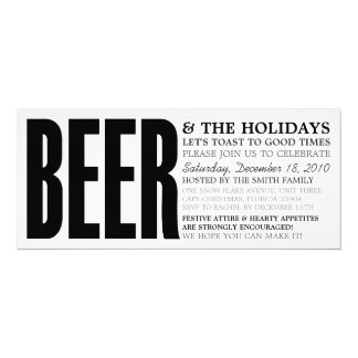 BEER - HOLIDAY PARTY INVITATION