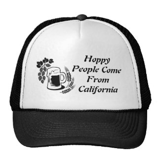 beer, Hoppy People Come From California Trucker Hat
