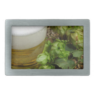Beer, hops and malt belt buckle