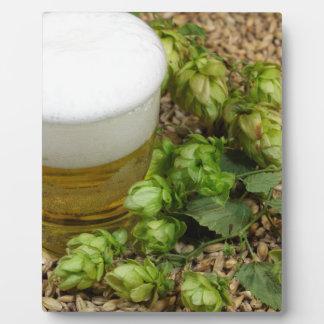 Beer, hops and malt plaque