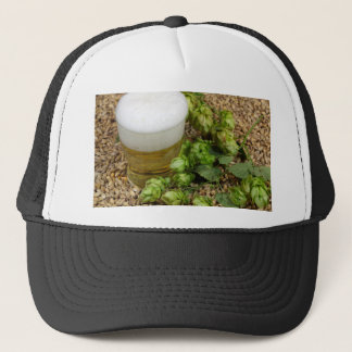 Beer, hops and malt trucker hat