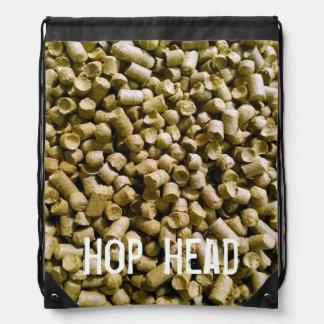 Beer Hops Brewery Home Brew Hop Head Drawstring Backpack