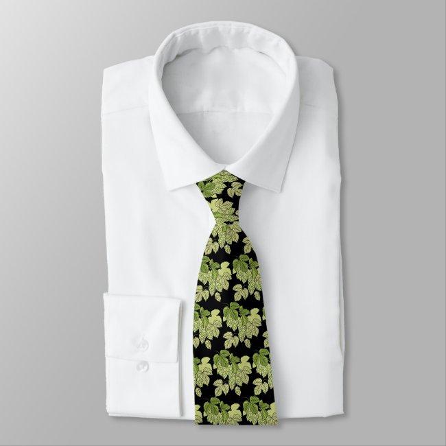 Beer Hops Design Necktie