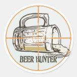 Beer Hunter Drinking Gear Round Stickers