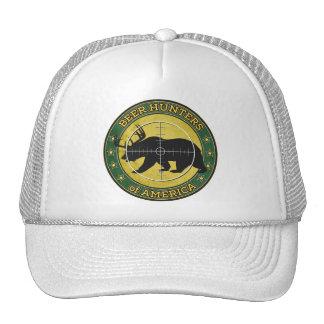 Beer Hunters of America (fun bear w/ antlers logo) Trucker Hat