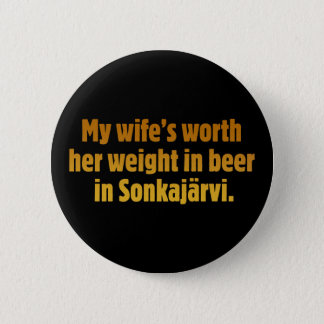 Beer Husband Black Button