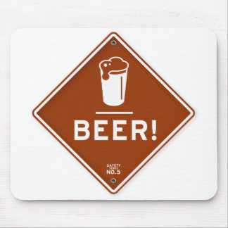 Beer I love Beer Road Sign Beer Lover Mouse Pad