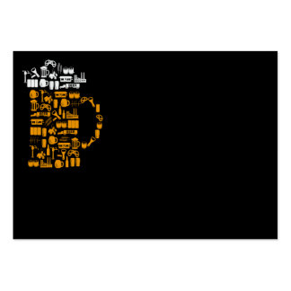 Beer Icons Large Business Cards (Pack Of 100)