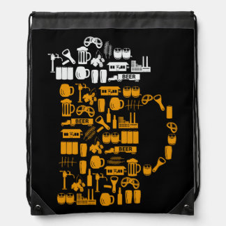 Beer Icons Drawstring Backpack