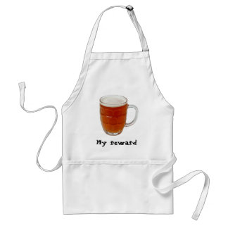 Beer in a pint mug adult apron