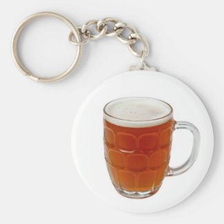 Beer in a pint mug basic round button keychain