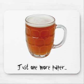 Beer in a pint mug mouse pad