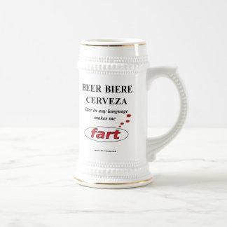 Beer in any language (Mug) Beer Stein