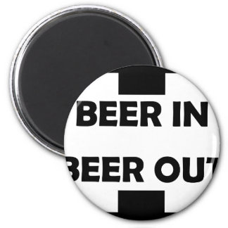 beer in beer out drinking icon magnet