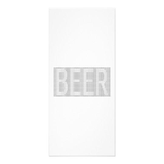 Beer in Binary - ASCII Rack Card