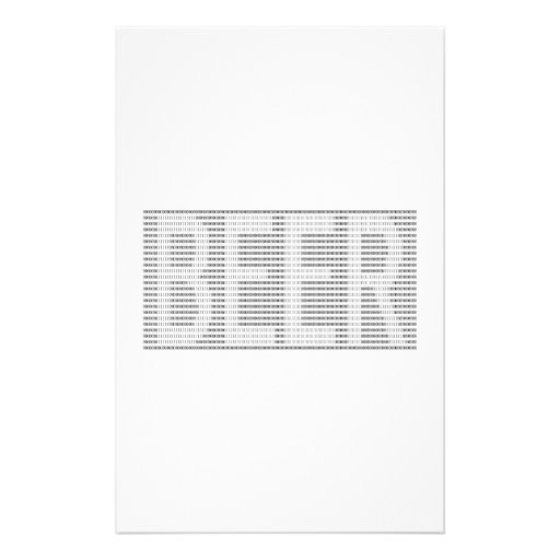 Beer in Binary - ASCII Stationery Design