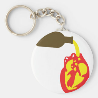 beer in chamber of the heart basic round button keychain