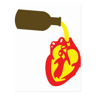 beer in chamber of the heart postcard