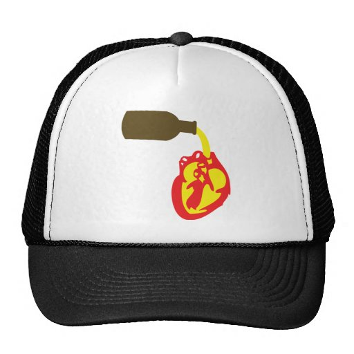beer in chamber of the heart trucker hats