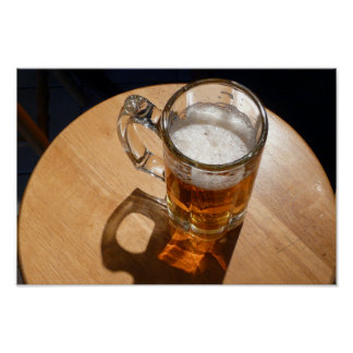 Beer in Glass Mug Poster