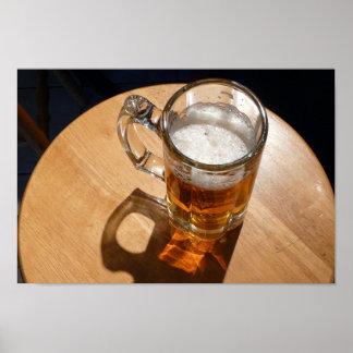 Beer in Glass Mug Print
