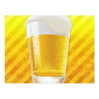 Beer in Glass Postcard