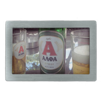 Beer in Greece Belt Buckle