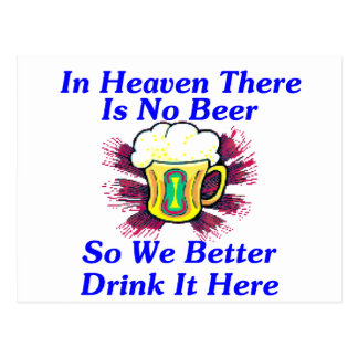 Beer in Heaven Postcard