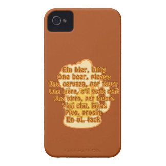 BEER in languages custom Blackberry case