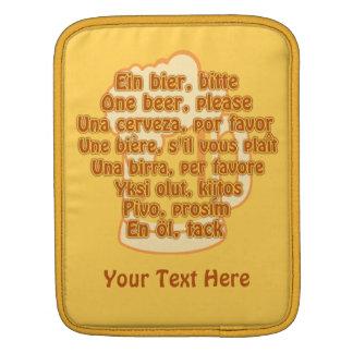 BEER in languages custom iPad case
