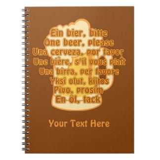 BEER in languages custom notebook