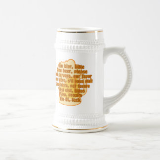 BEER in languages mug - choose style & color