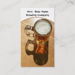 Brewery business cards templates zazzle beer in mug for brewery or brew your own business card colourmoves